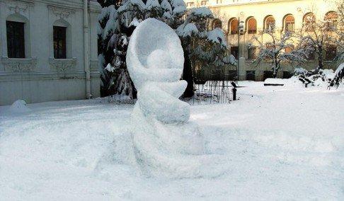 skulptura od snega nenada vuckovica